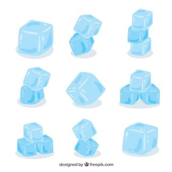 Mão desenhada coleção de cubo de gelo