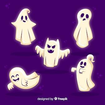 Mão desenhada coleção de fantasma de halloween