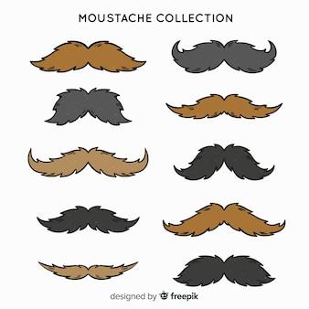 Mão desenhada coleção de pacote de bigode movember