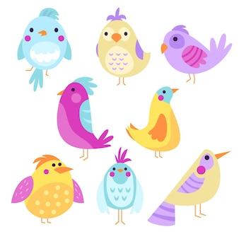 Mão desenhada coleção de pássaros