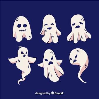 Mão desenhada coleção fantasma de halloween