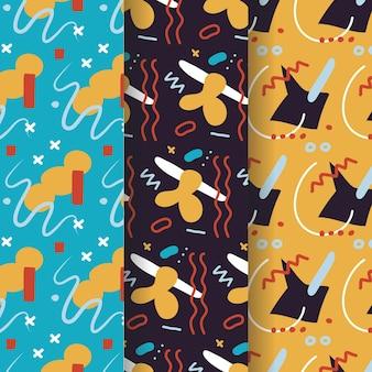 Mão desenhada coleção padrão de design