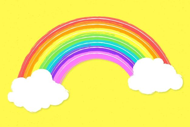Mão desenhada conceito arco-íris