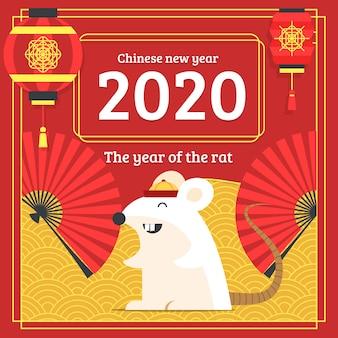 Mão desenhada conceito de ano novo chinês