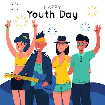 Mão desenhada conceito de dia da juventude
