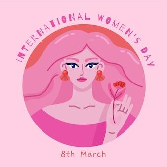 Mão desenhada conceito de dia da mulher