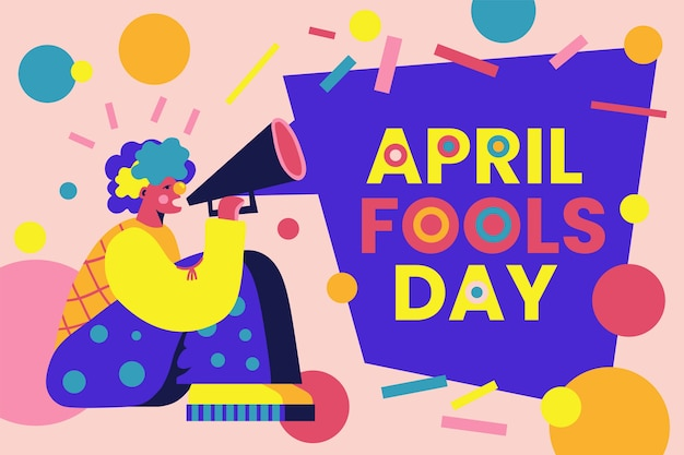 Mão desenhada conceito de dia de tolos de abril