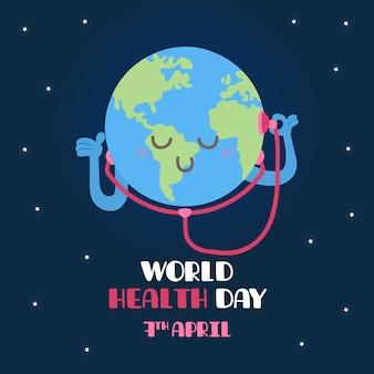 Mão desenhada conceito de dia mundial da saúde