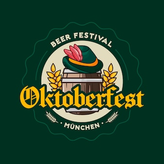 Mão desenhada conceito de oktoberfest