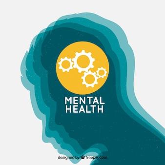 Mão desenhada conceito de saúde mental