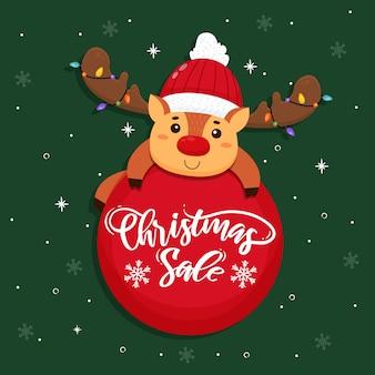 Mão desenhada conceito de venda de natal