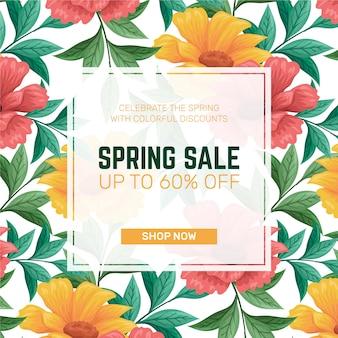 Mão desenhada conceito de venda de primavera