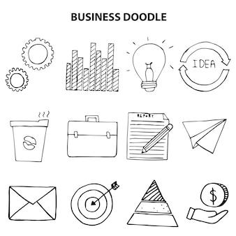 Mão desenhada de negócios doodle icon ilustração vetorial