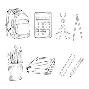 Mão desenhada de volta à escola