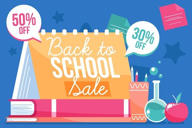 Mão desenhada de volta ao conceito de vendas da escola