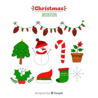 Mão desenhada decoração de natal