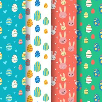 Mão desenhada design coleção de padrão de dia de páscoa