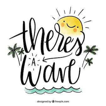 Mão desenhada design de citação de verão