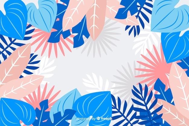 Mão desenhada design de folhagem colorida