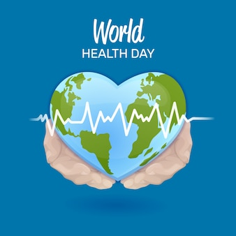 Mão desenhada design dia mundial da saúde