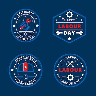 Mão desenhada design etiquetas do dia do trabalho
