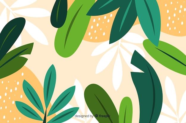 Mão desenhada design floral abstrato