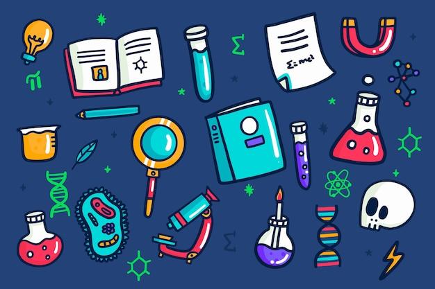 Mão desenhada design fundo colorido