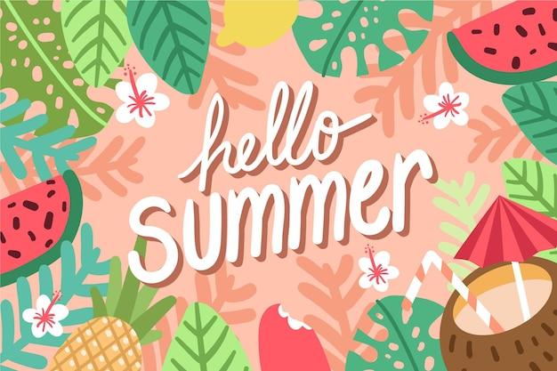 Mão desenhada design fundo de verão