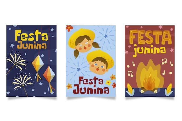 Mão desenhada design junho festival cartões