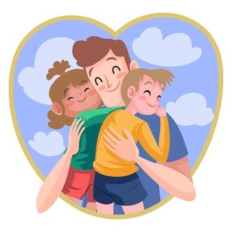 Mão desenhada dia dos pais