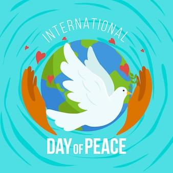Mão desenhada dia internacional da paz
