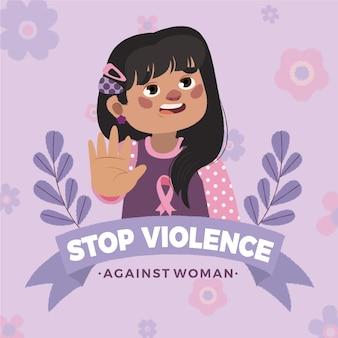 Mão desenhada dia internacional para a eliminação da violência contra as mulheres ilustração
