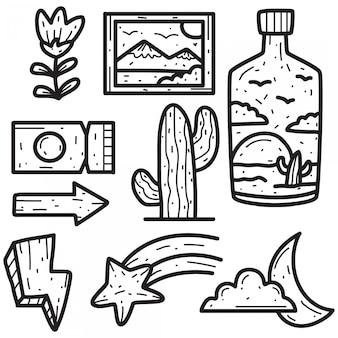 Mão desenhada doodle abstrato design