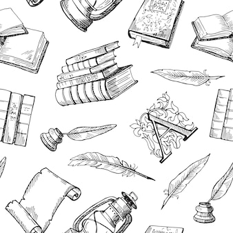Mão desenhada elementos de teatro padrão ou ilustração