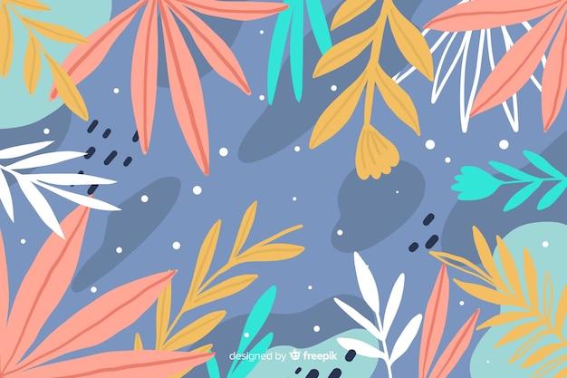 Mão desenhada estilo floral abstrato