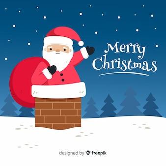 Mão desenhada feliz natal fundo