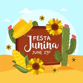 Mão desenhada festa junina ilustração
