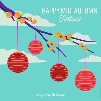 Mão desenhada festival de outono meados