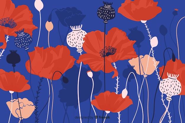 Mão desenhada floral abstrato