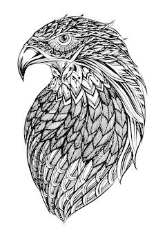 Mão desenhada fundo de águia
