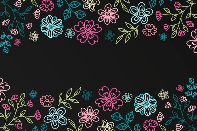 Mão desenhada fundo de flores