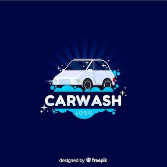Mão desenhada fundo de logotipo de lavagem de carro