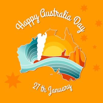 Mão desenhada fundo do dia da austrália