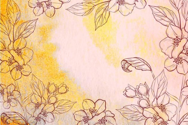 Mão desenhada fundo floral