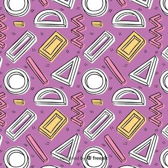 Mão desenhada fundo geométrico abstrato