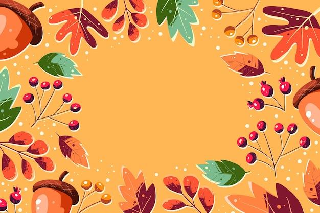 Mão desenhada fundo outono