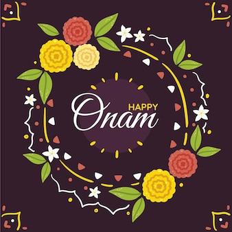 Mão desenhada ilustração de celebração onam indiana