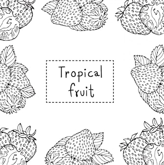 Mão desenhada ilustração de morango