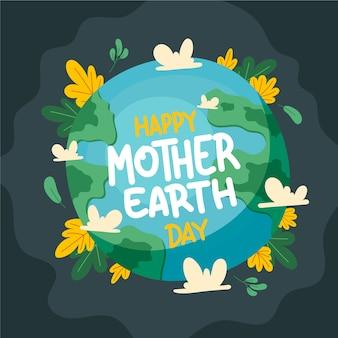Mão desenhada ilustração do dia da mãe terra