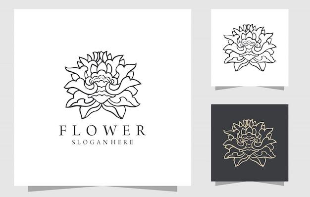 Mão desenhada ilustração floral com peônias
